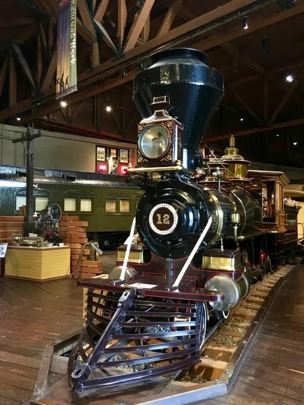 Old Sacramento - California State Railroad Museum Locomotive