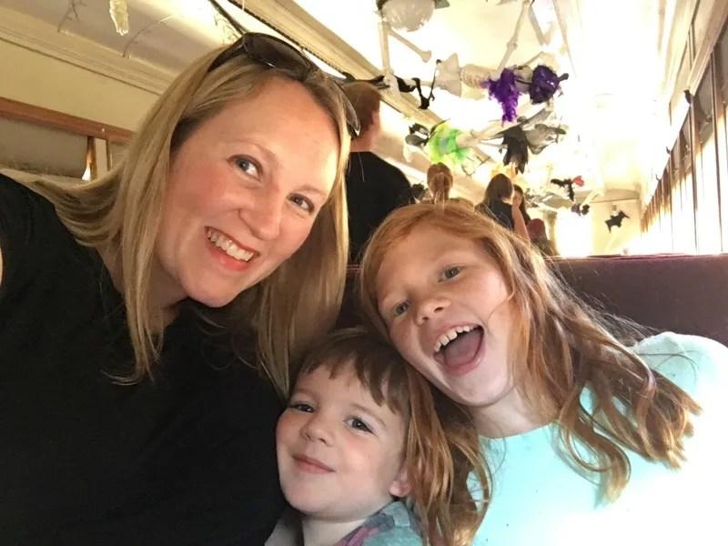 Old Sacramento - Family Aboard the Spookomotive