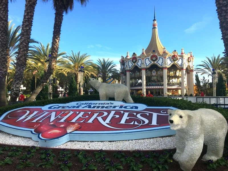 Winterfest at Great America - Entrance at Daytime