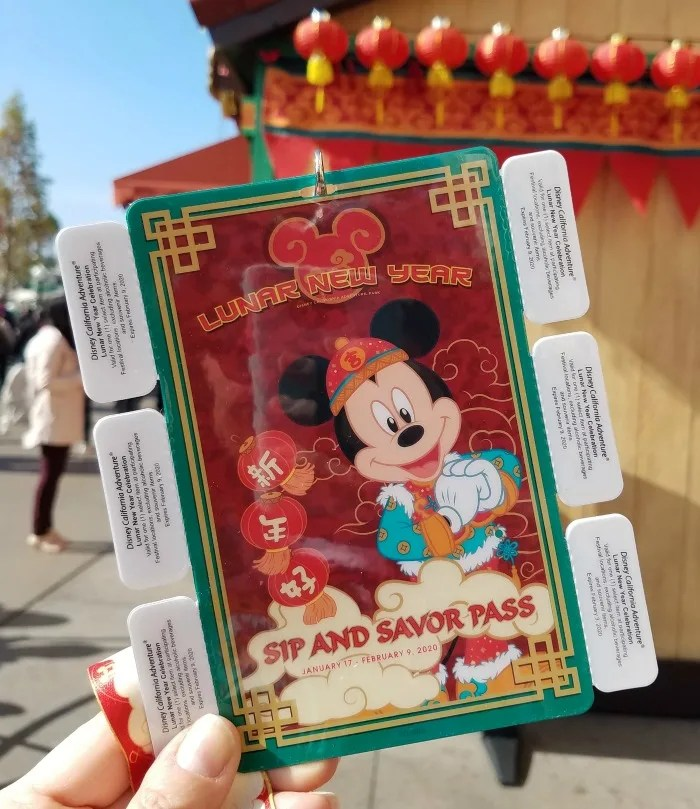Disneyland Lunar New Year Sip and Savor Pass