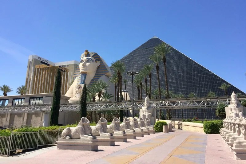 Warm Weather Winter Getaways with Kids - Las Vegas Luxor Hotel