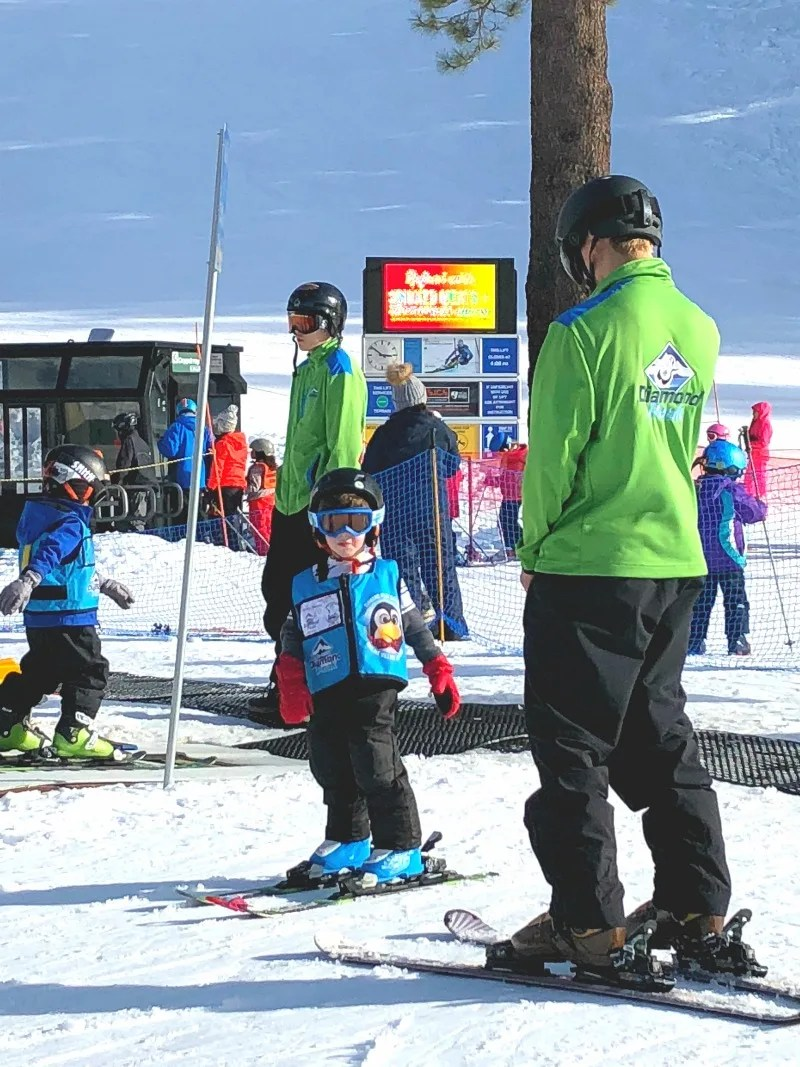 First Time in Ski School - Preschooler Ready for Bunny Slope
