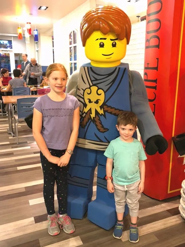 Legoland California on a Budget - Dinner at Bricks