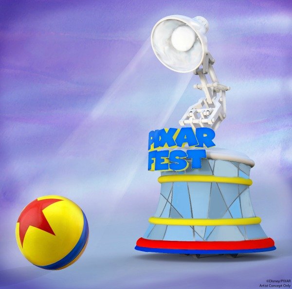 New at Disneyland Spring Summer 2018 - Pixar Play Parade Lamp Float