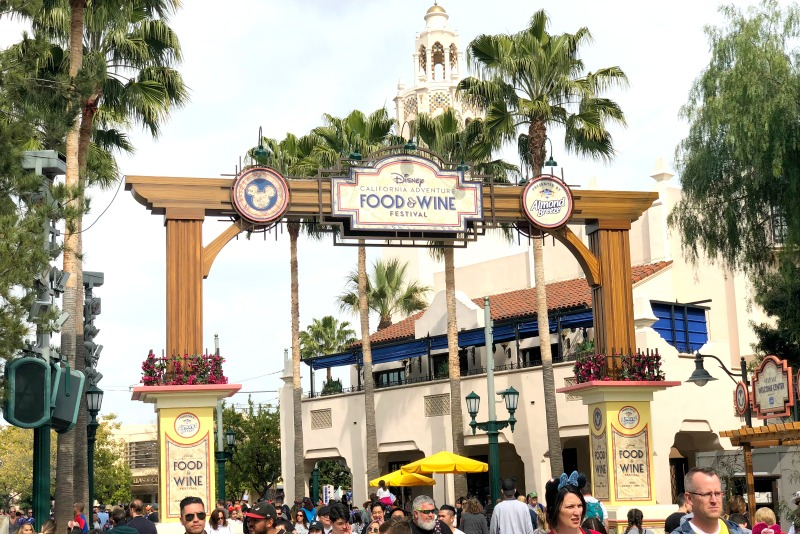 Disneyland Food and Wine Festival Entrance