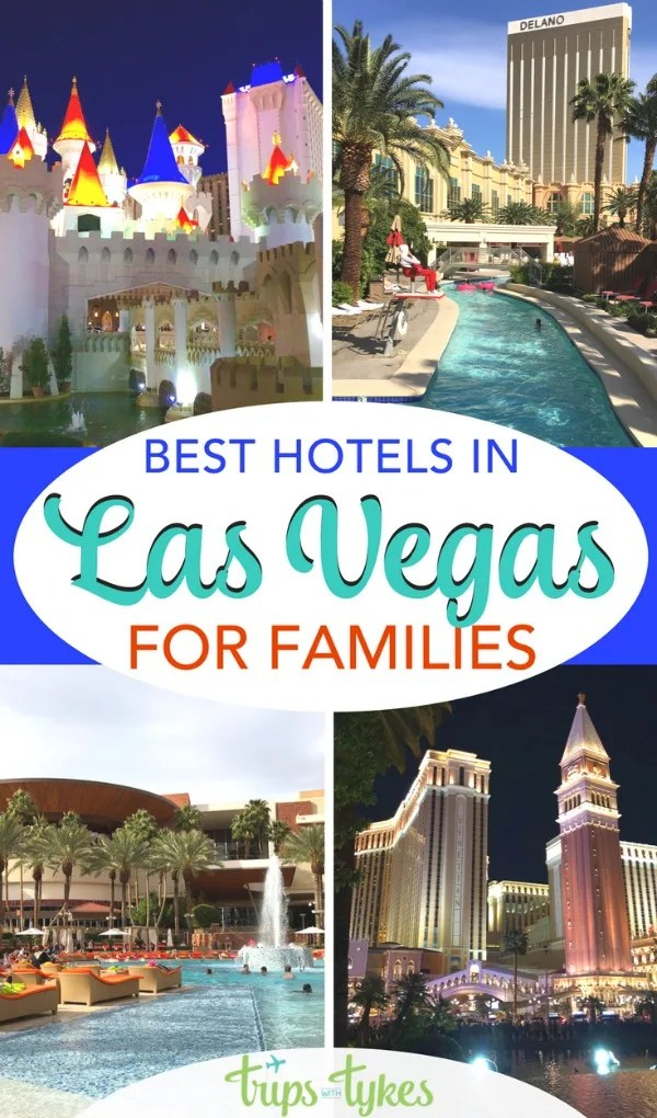 Considering a trip to Las Vegas with kids? Be sure to stay in one of these top kid-friendly hotels in Vegas with the best activities, amenities, pools, and more for families. #lasvegas #vegas #vegaswithkids #familytravel