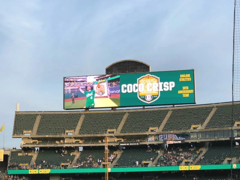 Oakland As Games with Kids - Coco Crisp
