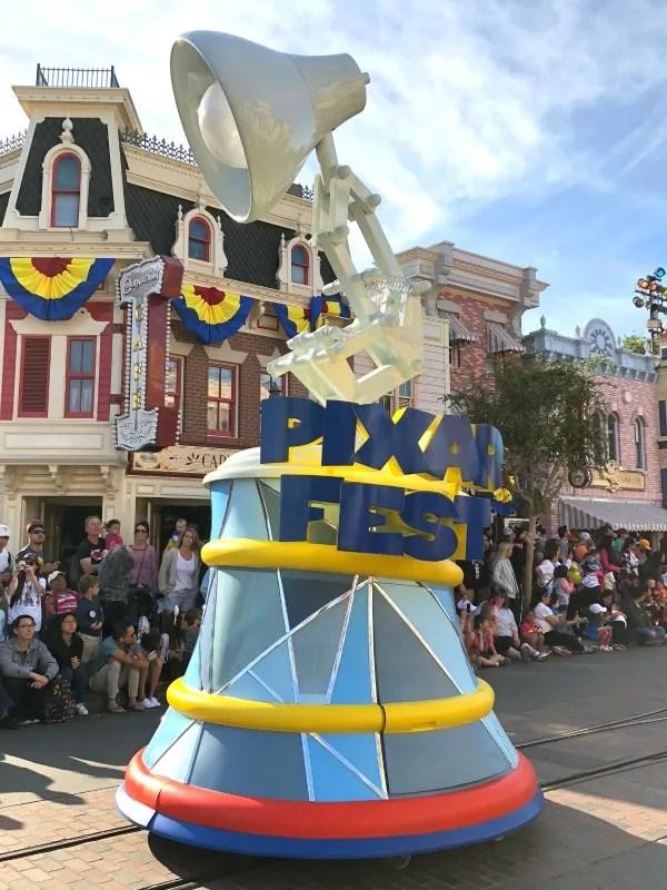 Pixar Fest at Disneyland - Pixar Lamp in Pixar Play Parade