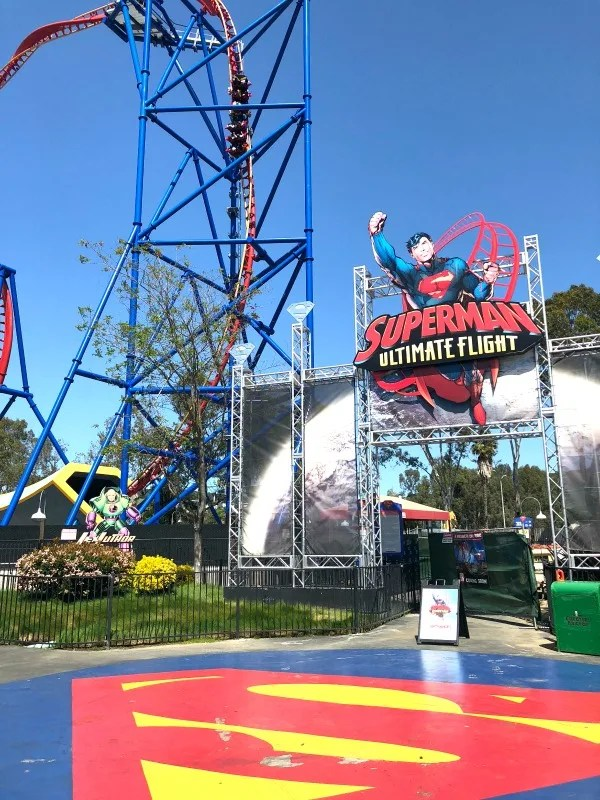 Six Flags Discovery Kingdom Tips - Superman Ultimate Flight Roller Coaster