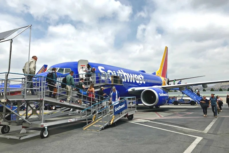 Southwest Credit Cards - Southwest Airlines Boarding at Burbank