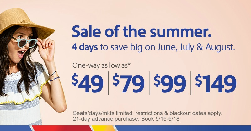 Southwest Airlines Summer Sale
