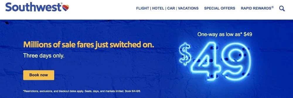 Southwest Fare Sale June 2019