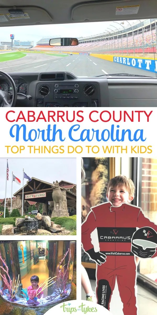 Visiting Charlotte, North Carolina with kids? Find out all the things to do for families in Cabarrus County, just north of downtown. NASCAR, Great Wolf Lodge Concord, and much more! #cabarrus #visitcabarrus #northcarolina #whereracinglives