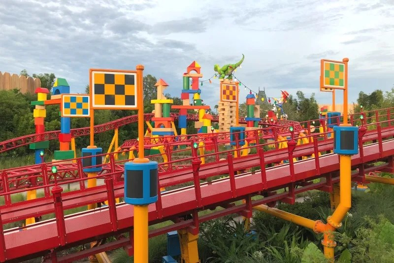 Toy Story Land Slinky Dog Dash Coaster Tracks
