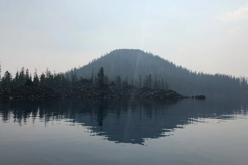 Travel During Wildfires - Crater Lake Wizard Island
