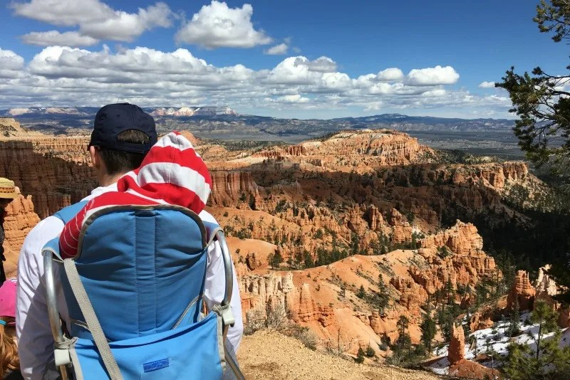 Hiking with Toddlers - Toddler Asleep in Hiking Backpack
