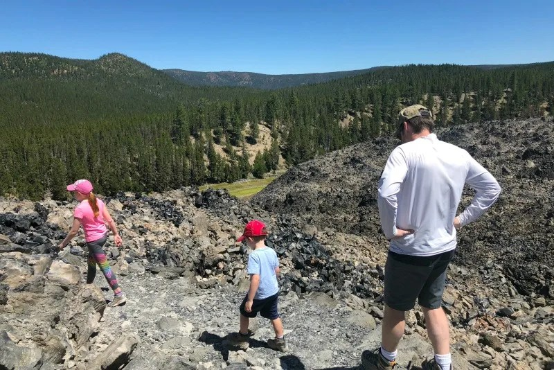 Volcano Road Trip - Obsidian Flow Newberry National Volcanic Monument