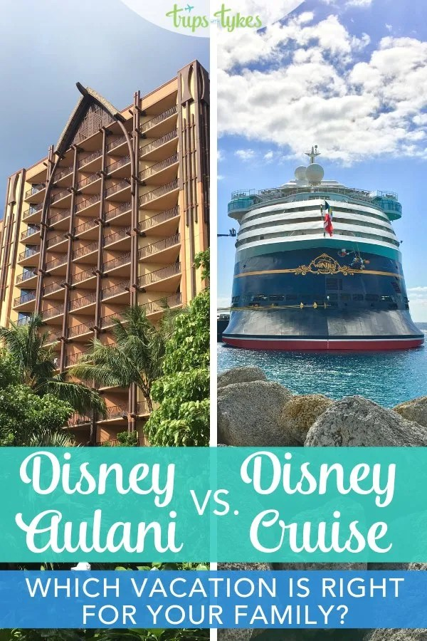 Can't decide between a Disney Cruise or a trip to Disney's Aulani in Hawaii? The key factors to help you decide which non-theme park Disney vacation is right for your family and when. #DisneyCruiseLine #Aulani #Disney #DisneyAulani #DCL