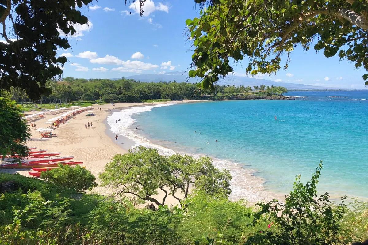 Hawaii Big Island with Kids - Mauna Kea Beach from Above
