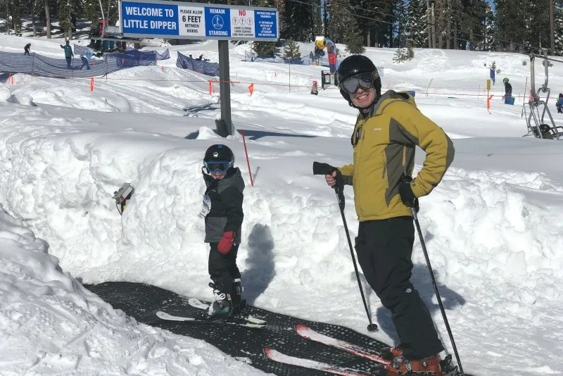 Mistakes Skiing with Kids - Father Son Magic Carpet