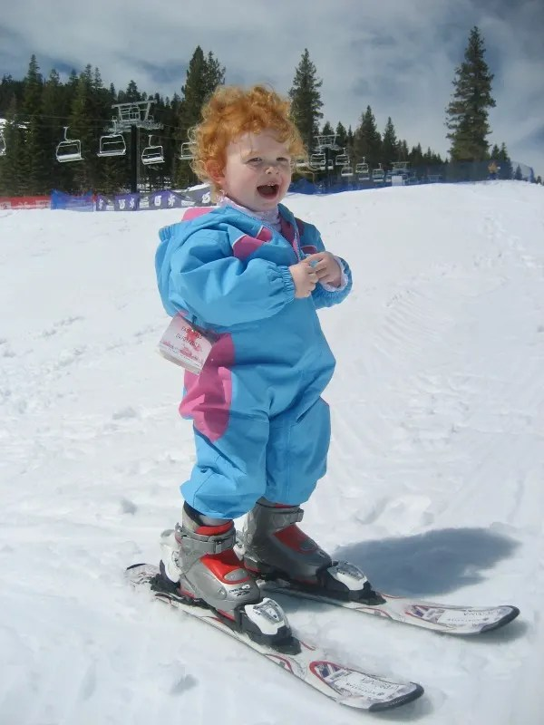 Mistakes Skiing with Kids - One Year Old Skiing