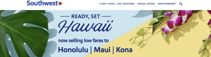 Southwest Hawaii Flights on Sale Screenshot