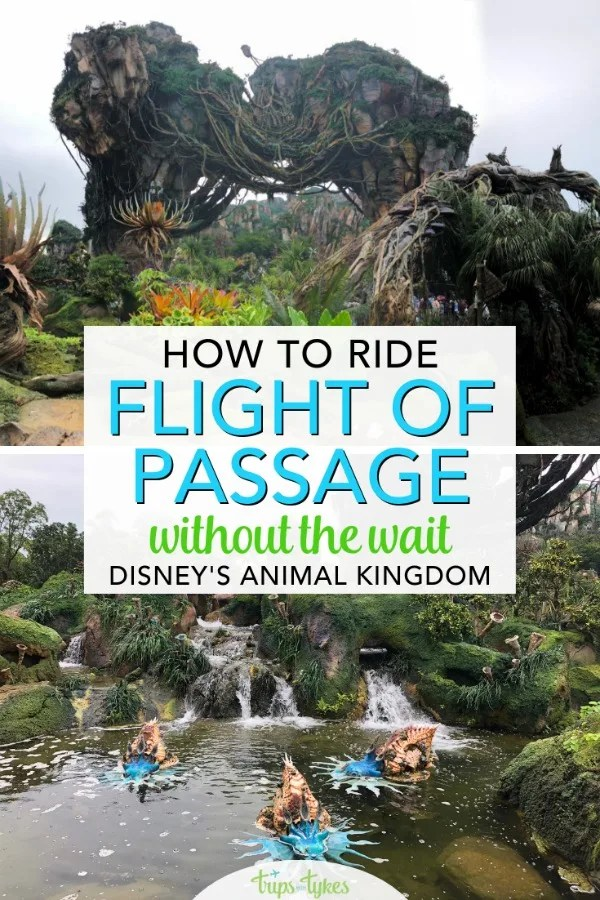 Want to ride Avatar Flight of Passage in Pandora in Disney's Animal Kingdom without the wait? Line skipping tips and strategies to beat the crowds. #disneyworld #pandora #animalkingdom #flightofpassage