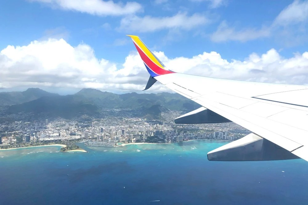 Southwest Hawaii Flight Review - View of Waikiki on Takeoff