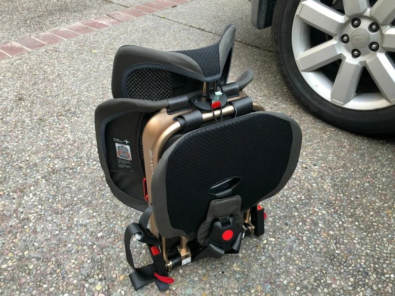 WAYB Pico Car Seat Review - Folded by Car