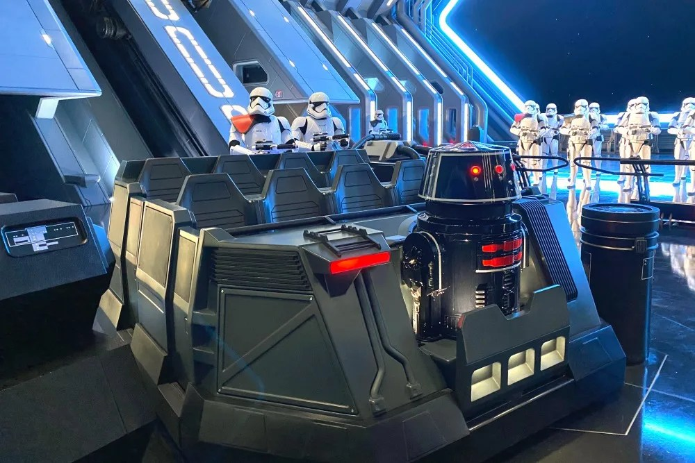 Disneyland Star Wars Rise of the Resistance Trackless Ride Vehicle