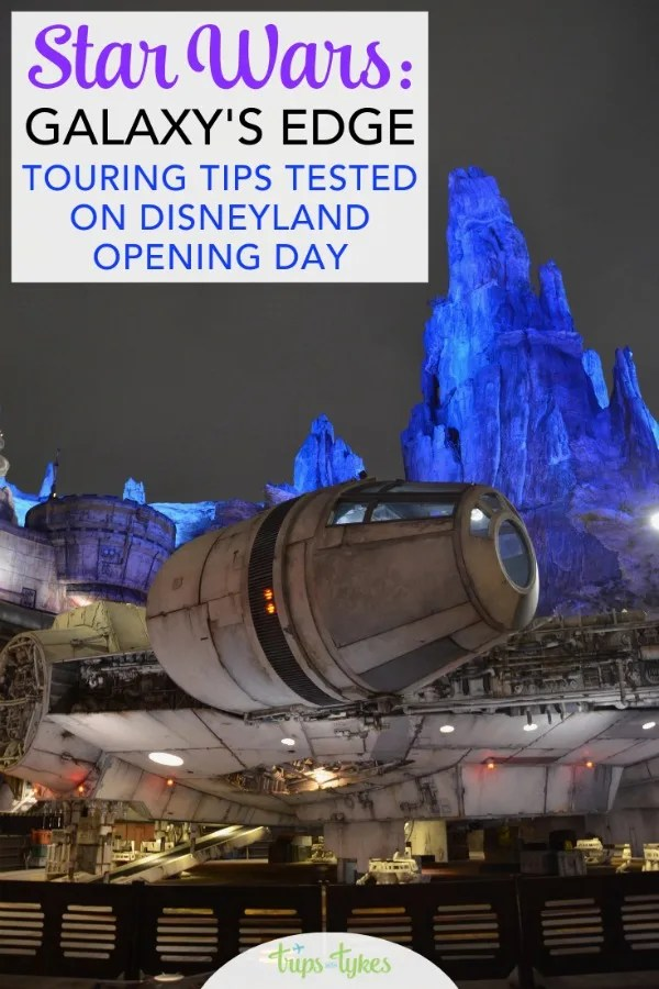 Visiting Star Wars: Galaxy's Edge in Disneyland? Get touring strategies and tips (tested on the public opening day) for waiting in line less during your time on Batuu in Black Spire Outpost. #galaxysedge #disneyland #starwars
