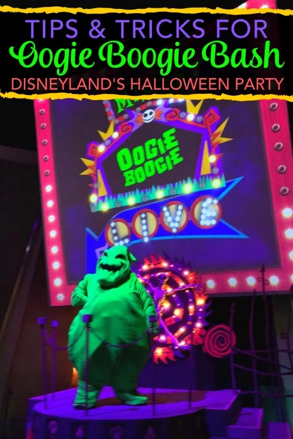 Headed to Oogie Boogie Bash, the new Disneyland Halloween party? Tried and tested tips from the opening night party. How to dodge crowds, what parades and shows are worth your time, and more. #oogieboogiebash #disneyland #halloweentime