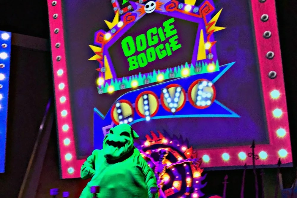 Oogie Boogie Bash Disneyland - Oogie Boogie Close Up