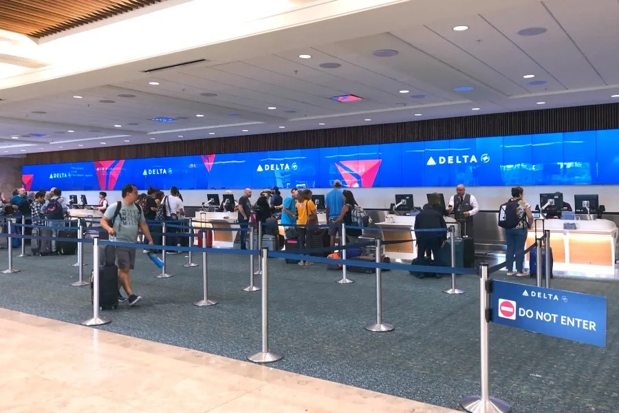 Delta Airlines Ticket Counter at MCO
