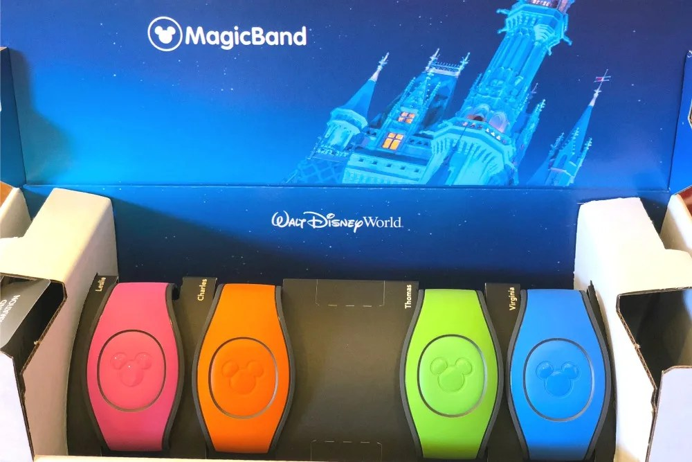 Disney MagicBands - Mailed Package with bands