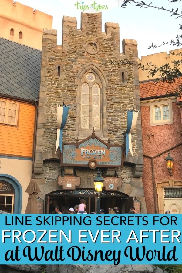 Want to ride on Frozen Ever After without long waits? Tips, hacks, and line skipping secrets for this popular attraction in Epcot at Walt Disney World, even if you can't snag a Fastpass for it! #frozen #frozeneverafter #disneyworld #epcot