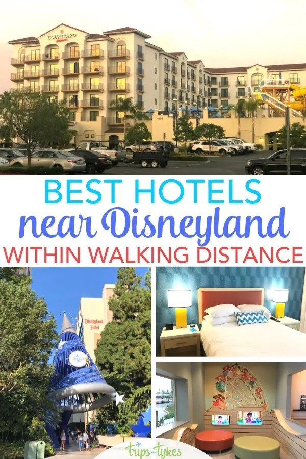 Traveling to Disneyland in Anaheim, California? These 15 kid-friendly hotels are all within close walking distance Disneyland and Disney California Adventure parks. Get a sneak peek of the family-friendly hotel amenities at each property, including pools and water parks, family suites, free breakfast, parking fees, and more! #disneyland #disneylandwithkids #hotels #familytravel