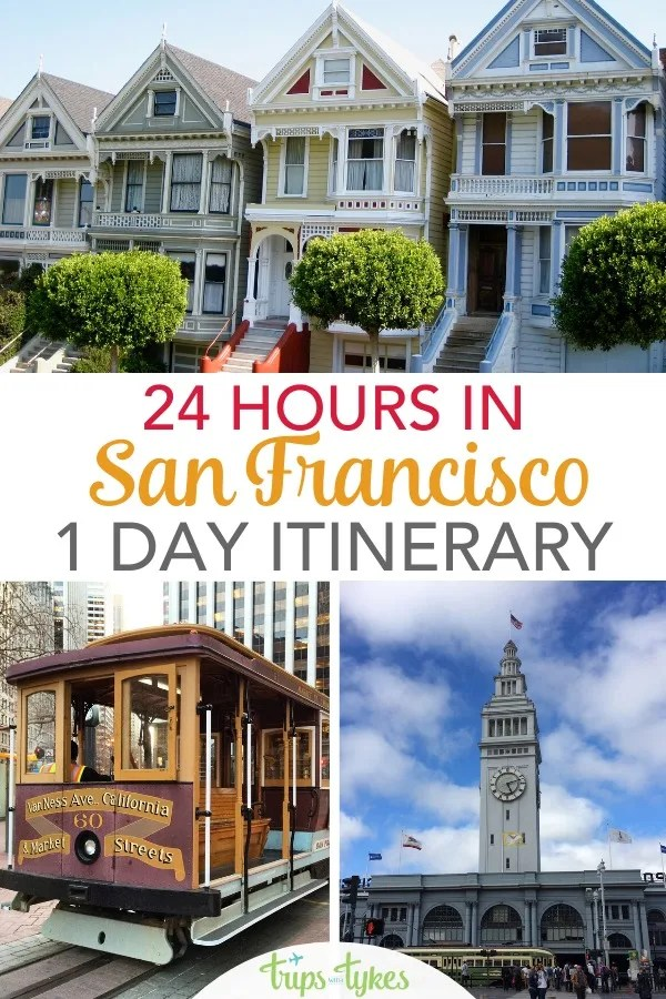 Visiting San Francisco for just 24 hours? A detailed step-by-step one day touring itinerary that hits the tourist highlights, from the Golden Gate Bridge to Fisherman's Wharf to Chinatown to the Ferry Building and beyond. #sanfrancisco #california