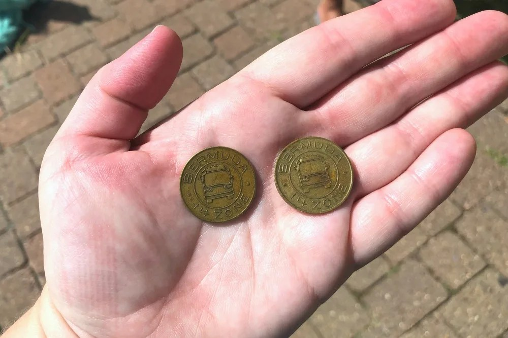 Bus and ferry tokens in Bermuda
