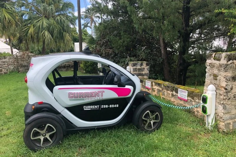 Rent a Twizzy electric car to tour Bermuda