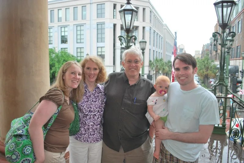 Baby in Charleston SC with Grandparents