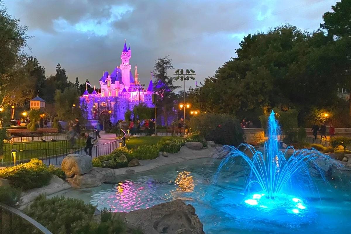 Disneyland at Dusk - Sleeping Beauty Castle