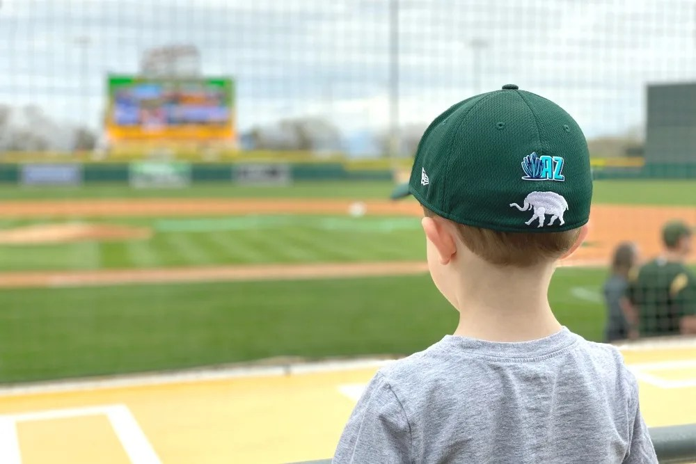 Cactus League Spring Training with Kids - Child Watching Baseball