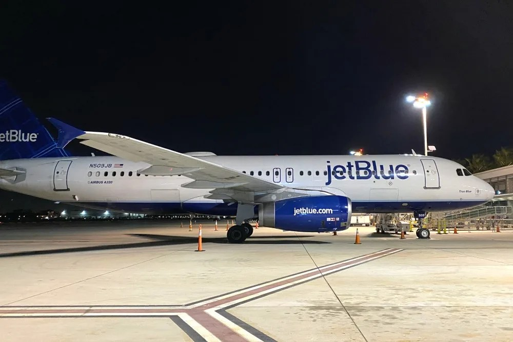 Jet Blue Plane on Tarmac