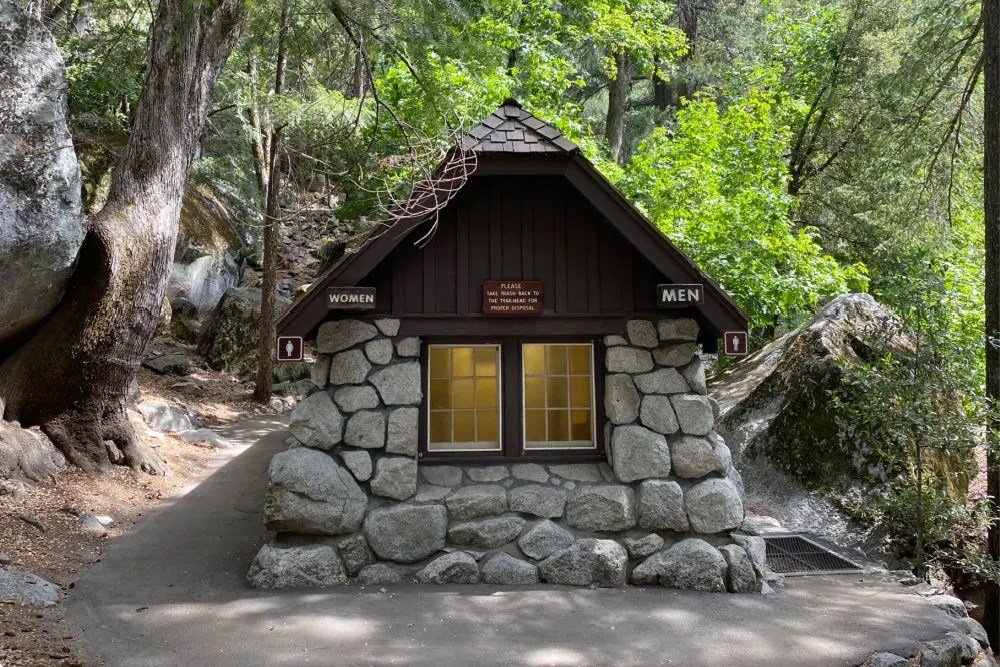 Yosemite National Park - Mist Trail Bathroom