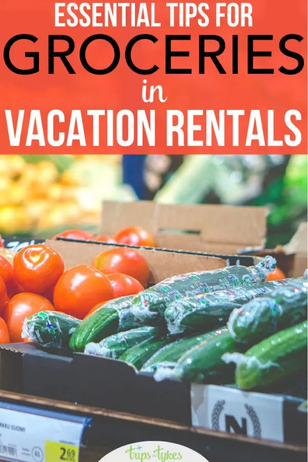 Staying in a vacation rental condo or home on your next trip? All the important tips to stock your kitchen successfully, complete with a free download of a vacation rental grocery shopping list.