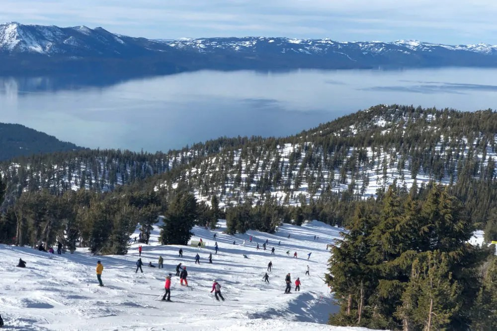 Heavenly Skiing Tahoe View