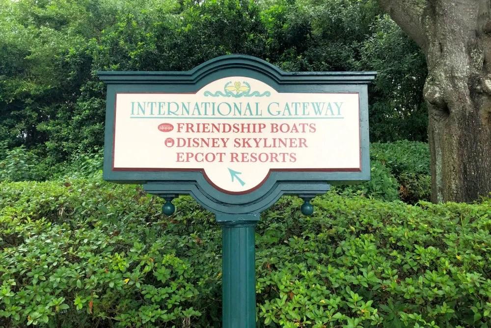 Disney World Transportation - Walking Distance Epcot International Gateway