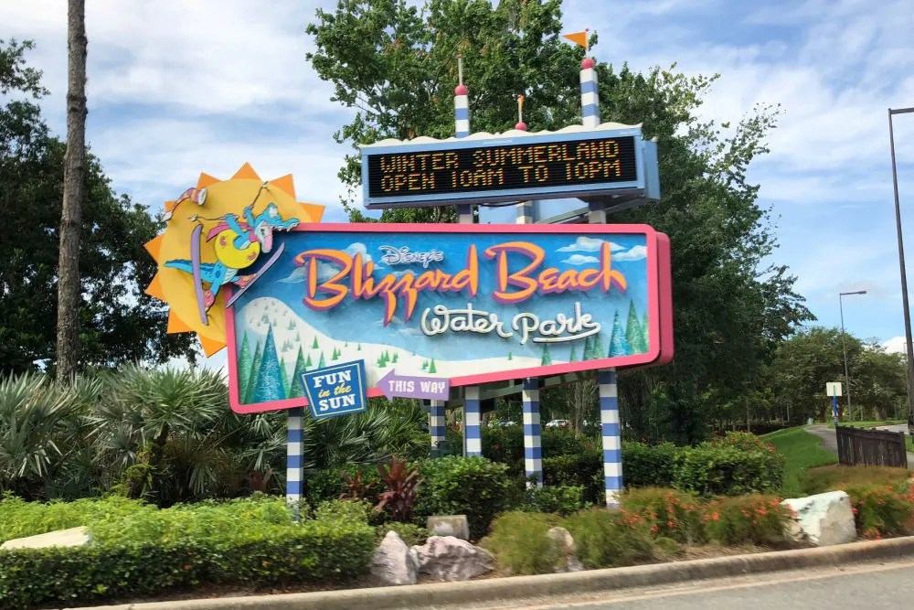 Disney World Blizzard Beach Entrance Sign