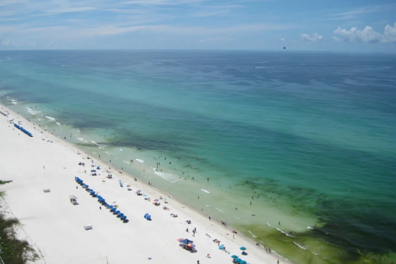 Florida Panhandle Emerald Coast - Panama City Beach Aerial View